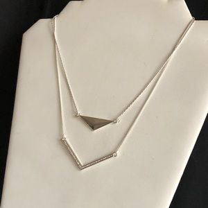 Jewelry - New Layered Silver Toned Necklace